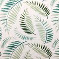 Knit Prints Rayon Spandex Fabric-White Green Fern Leaves