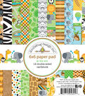 Doodlebug Double-Sided Paper Pad 6\u0022X6\u0022-At The Zoo