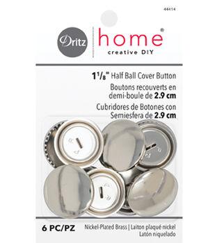 Dritz Home Creative DIY 6 pk 1 1/8'' Half Ball Cover Buttons