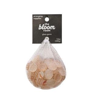 Bloom Room 12 oz. Matte Glass Gems-Peach