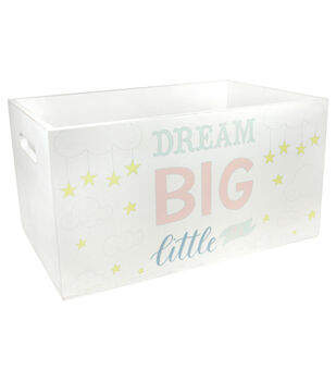 Organizing Essentials Small White Crates-Baby