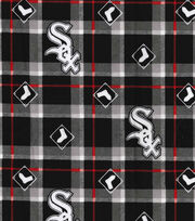 Chicago White Sox Flannel Fabric-Plaid, , hi-res