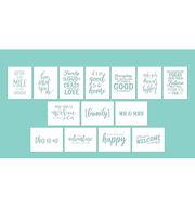 Hampton Art 12X16 Stencils-Phrases, , hi-res