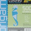 Folia Solid Origami Paper 6\u0022X6\u0022 500/Pkg-Assorted Colors