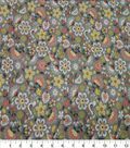 Quilter\u0027s Showcase Cotton Fabric-Folk Floral Gray Yellow