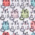 Anti-Pill Plush Fleece Fabric-Sitting Kitties