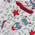 Anti-Pill Plush Fleece Fabric-Winter Snowman Tossed