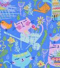 Snuggle Flannel Fabric -Gardening Kitties