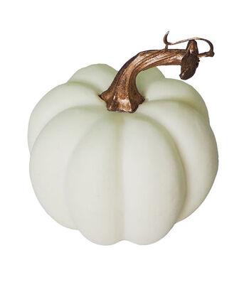 Blooming Autumn Small Round Pumpkin-White