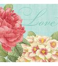 Blissful Blooms Beverage Napkins 5\u0022X5\u0022 36/Pk-Green & Pink