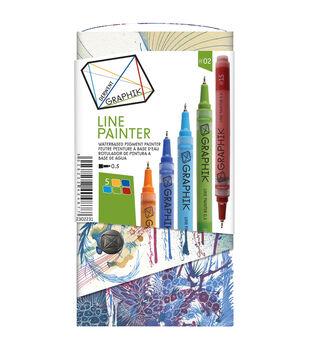Derwent Graphik 5 Piece Line Painter Set-Primary