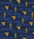 West Virginia University Mountaineers Cotton Fabric 43\u0022-Distressed