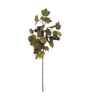 Blooming Autumn Grape & Leaf Spray