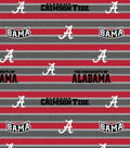 University of Alabama Crimson Tide Cotton Fabric -Polo Stripe