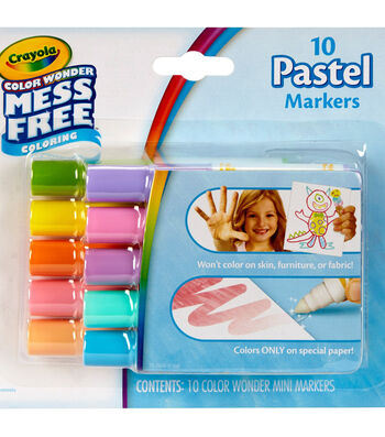 Crayola Color Wonder 10 pk Mini Markers-Pastels