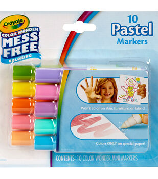 Crayola Color Wonder 10 pk Mini Markers-Pastels