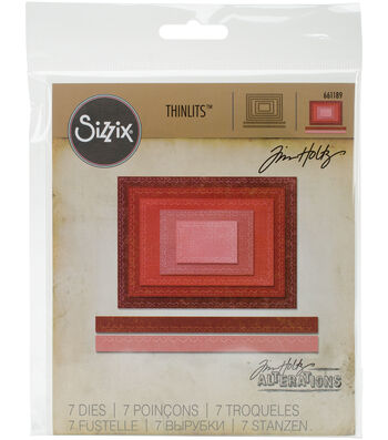Sizzix Thinlits Dies-Stitched Rectangles
