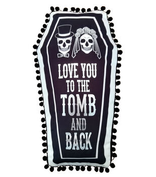 Maker's Halloween 10''x18'' Novelty Coffin Pillow