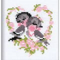 RIOLIS Create it yourself 5\u0027\u0027x6.25\u0027\u0027 Counted Cross Stitch Kit-First Love