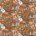 University of Texas Longhorns Cotton Fabric-Pop Art