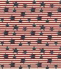 Patriotic Cotton Fabric -Tossed Stars On Stripes