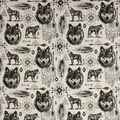 Super Snuggle Flannel Fabric-Sketched Wolf
