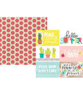 Simple Stories Hello Summer Double-sided Horizontal Elements Cardstock
