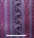 Casa Embellish Brocade Fabric 44\u0027\u0027-Purple Linear Paisley