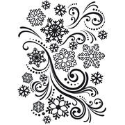 Darice Embossing Folder Snowflakes And Flourishes, , hi-res