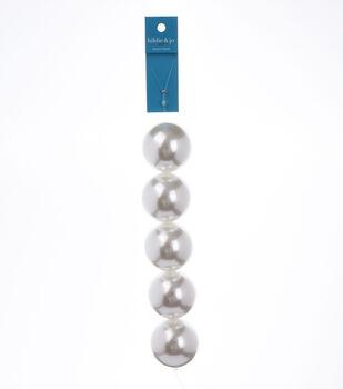 "7"" Strand Pearl AB Beads, 40mm White"