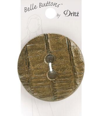 Belle Button-Crock Skin, Olive, 53Mm