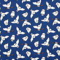 Harry Potter Cotton Fabric-Hedwig on Navy