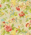 Waverly Upholstery Fabric 54\u0022-Floral Engagement/Poppy