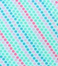 Blizzard Fleece Fabric -Mermaid Dots on Aqua