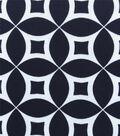 Knit Prints Pima Cotton-Navy White Geo Circles