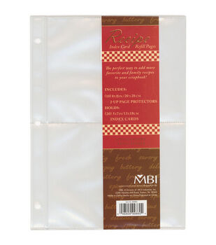 """5""""x7"""" Family Recipe 3-Ring Refill Pages-10PK"""