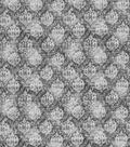Vintage Cotton Fabric -Gray Distressed Damask