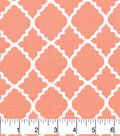 Nursery Cotton Fabric-Lilly Coral Quatrefoil