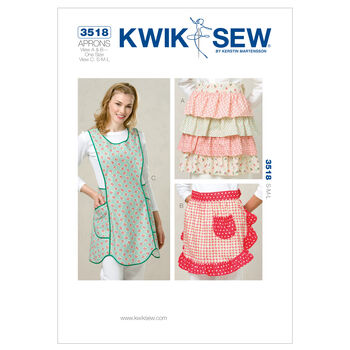 Kwik Sew Pattern K3518 Misses' Aprons