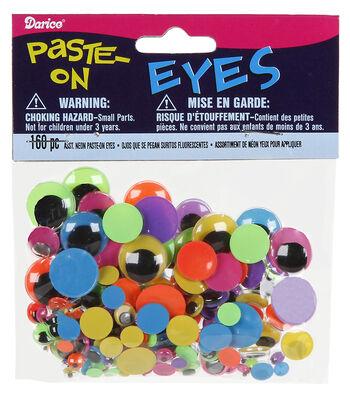 Darice Foamies Wiggle Eyes-160PK/Neon