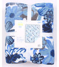 No Sew Fleece Throw 72\u0022-Blue Sketched Floral