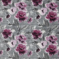 Luxe Fleece Fabric-Watercolor Floral On Wood