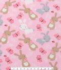 Anti-Pill Fleece Fabric 61\u0022-Bunnies And Butterflies