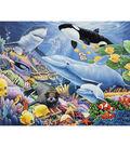 Novelty Cotton Fabric Panel 44\u0022-Sealife