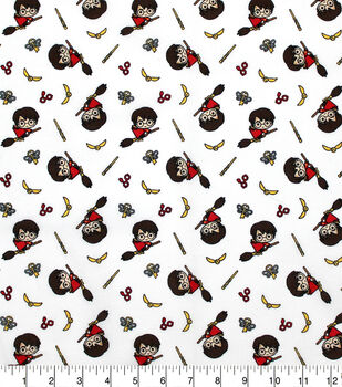 Harry Potter Cotton Fabric-Kawaii Quidditch