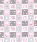 Nursery Cotton Fabric 43\u0027\u0027-Dream Big Patch