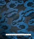 Brocade Fabric -Teal Poppy