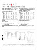Mccall Pattern V8734 Zz (Lrg-Xl-Vogue Pattern