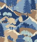 Waverly Upholstery 8x8 Fabric Swatch-Happy Camper/Denim