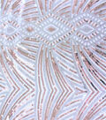 Deco Design Sequin Fabric 52\u0027\u0027-Silver & Rose